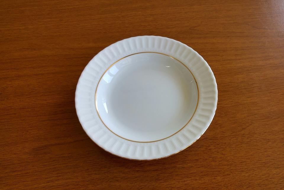 Фарфоровые Тарелки, Пусто, Белый, Классик, Плита