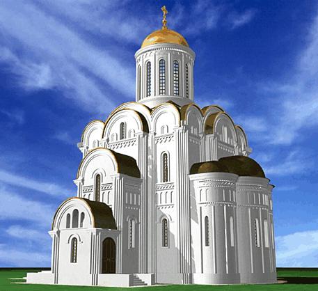 Изображение будущего Храма Архангела Михаила